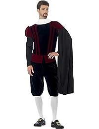 Herren Fancy Party Kleid Wachen Mittelalter King Outfit Tudor Lord Deluxe Kostüm