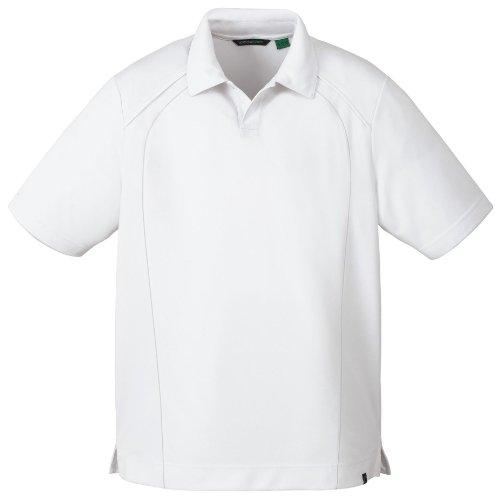 Ceneri City Men's poliestere riciclato Performance Pique-Maglietta Polo WHITE 701