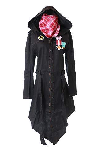 Jacke Kostüm Jeans - Kawaii-Story MN-91 PUBG Playerunknown's Battlegrounds schwarz Jeans Jacke Kapuzen Mantel mit Halstuch Kostüm Cosplay (XL)