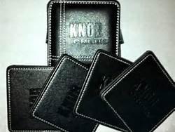 Preisvergleich Produktbild Knob Creek Bourbon Coaster Set (4 Coasters) Leather (1) by Knob Creek