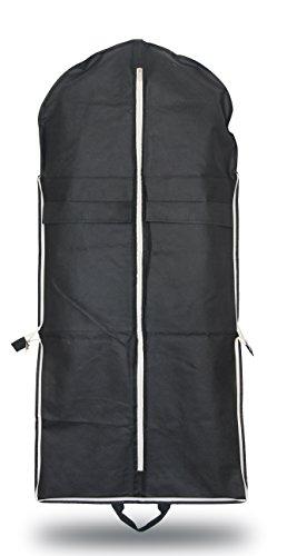 OWLMO - Kleidersack Anzugtasche Kleiderhülle | Tragegriffe | faltbar | durchdachter Kleidersack/Anzughülle 110x63cm | Hemd und Kleid | umweltfreundliche Verpackung (Knitterfrei Verpackung)