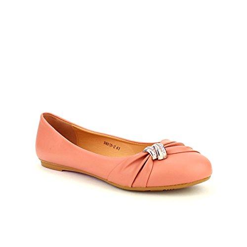 Cendriyon Ballerine Corail CINKS Mode Chaussures Femme Corail