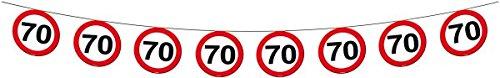 Folat Geburtstag Party Verkehrsschild 12 Meter BANNER - 70. Geburtstag 70