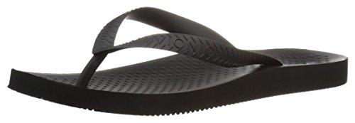 Vionic Mens Beach Manly Flip Flop Black/black