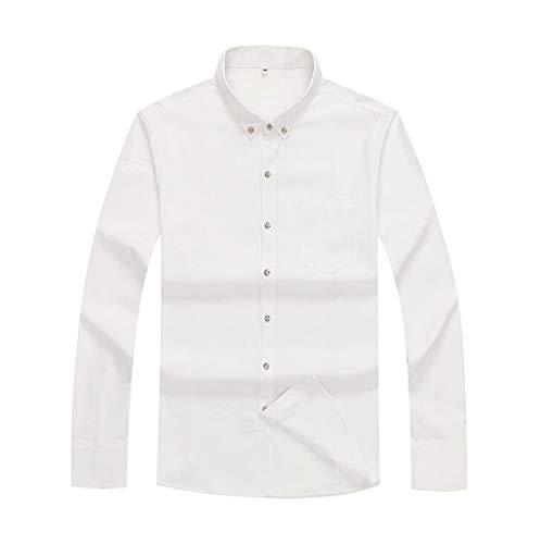 Weißen, Bestickten Overalls (ZJEXJJ Herrenhemd Langarm-Sweatshirt Loses Komfort-T-Shirt Persönlichkeit Große Größe Poloshirt Sonnenschutz Kleidung Overalls Herren Businessjacke (Farbe : Weiß, größe : XXXXXXL))