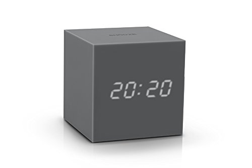 Gravity Cube Click Clock grau - Wecker, Uhr, Thermometer