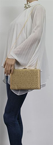 SwankySwans , Damen Clutch One Size gold