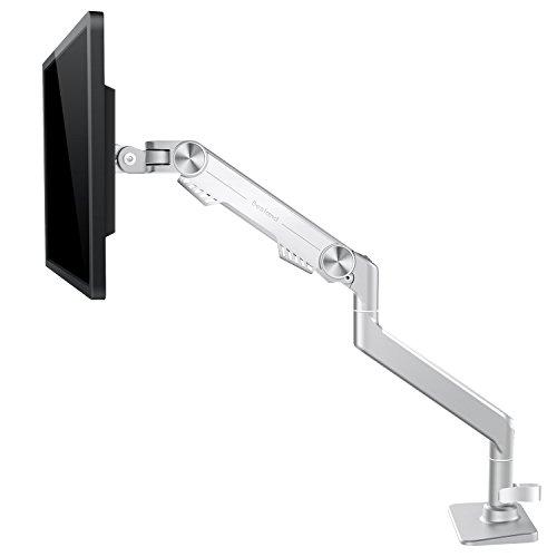 Schwenkbar Tischständer, Bestand® Neigbare Drehbare Aluminium Monitor & TV Halterung für 17'' - 32'' TV Bildschirm & PC Monitor, NUR kompatibel mit VESA-Lochabstand: 75 x 75 mm, 100 x 100 mm - Weiß