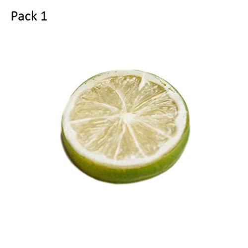 LF stores Gefälschte Frucht Künstliche Früchte Requisiten Kunststoff Zitrone Scheibe Simulation Obst Hause Kabinett Modell Haus Dekoration Lebensechte Gefälschte Früchte Obst Spielzeug - Zitrone Scheiben Künstliche