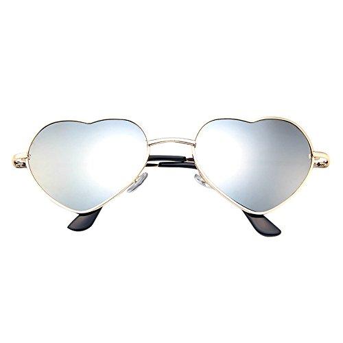 Oyedens Gradient Spiegel Sonnenbrille - Mens Womens Retro Fashion verspiegelte Gläser polarisierte Sonnenbrillen Brillen