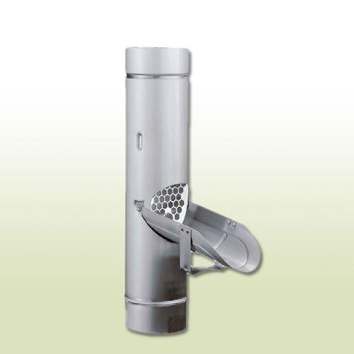 Aluminium Regenwasserklappe DN 120 mit Sieb