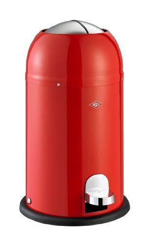 Wesco Kickmaster Waste Can, 4-Gallon, 15-Liter, Junior Red by Wesco