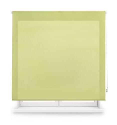 Blindecor Ara Estor enrollable translúcido liso, Pistacho, 160 x 175 cm