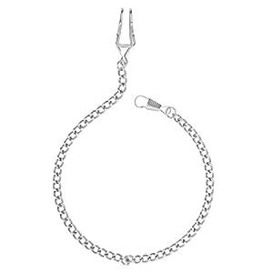 nicerio Schlüsselanhänger-Kette Taschenuhr Silber Silber klassischen