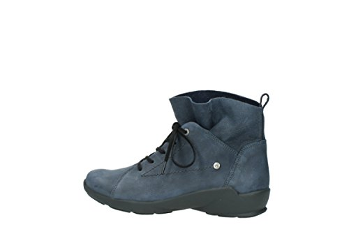blue dark Confort 01574 Bello à 10800 lacets nubuck Chaussures Wolky x1HqYd0q
