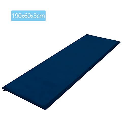 wolketon Selbstaufblasende Isomatte Ultraleichter Camping Isomatte Wasserdicht Aufblasbare Luftmatratze Klein für Outdoor,Camping, Reise 190 * 60 * 3CM Blau