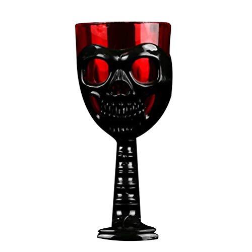 Amosfun Gothic Skull Wine Becher Skeleton Design Cup Creepy Head Mug für Halloween-Party (zufällige Farbe Color