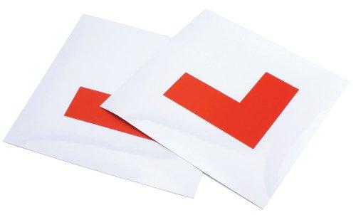 Preisvergleich Produktbild AA Magnetschilder für Fahrzeuge, mit Buchstaben L, 2Stück