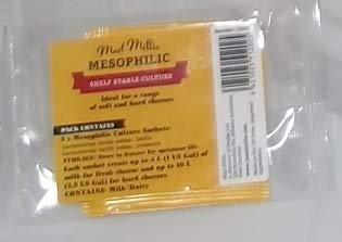 Fermentos lácticos mesófilos 5 Sobres para 20 litros de Leche | Mad Milli para Hacer Queso