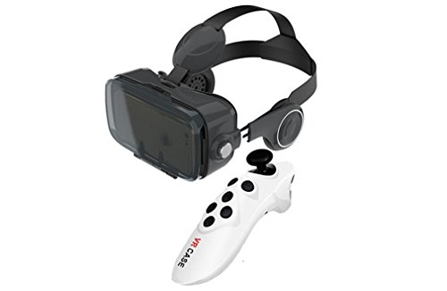 Nola Sang 3D Virtual Reality Gläser VR Headset mit Iphone Android Bluetooth Fernbedienung...