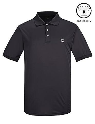 Lesmart Performance Polo de Golf Homme Dry Fit Sport Solide Polyester Size XXL Gris