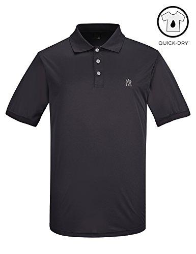 Lesmart Herren Golf Poloshirt Sport Dry Fit Polyester Funktions Leicht Tee Size 4XL Grau (4 Unzen Roll)