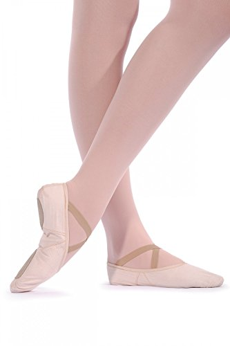 Roch Valley Geteilte Sohle Leinen Ballerins - regular fit Hellrosa