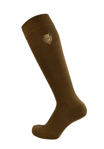 Pfiff 100322 Unisex-Reitstrumpf kariert, Reitstrümpfe mit verstärktem Fußbett