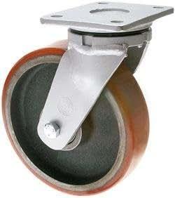 Schwerlast Transportgeräterolle - lenkbar - Ø 125 mm, Aluminiumfelge, 50 mm, 450,