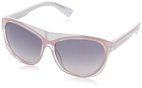 55DSL Herren FF0002 Wayfarer Sonnenbrille, 74C Rose / Shiny Silver