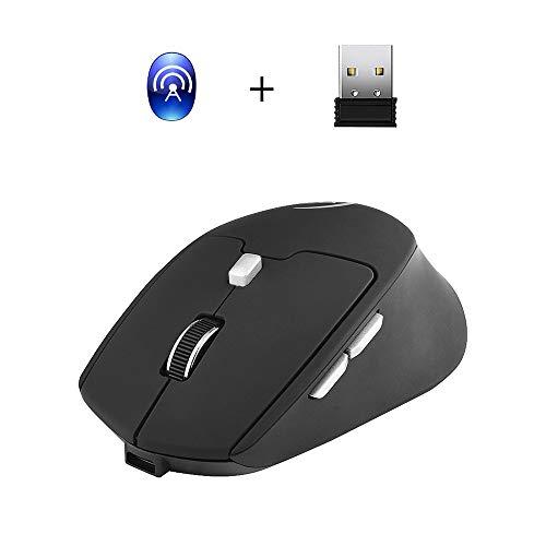 Festnight Wireless Mouse 2.4G Dual-Modus optische USB-Computermaus 2400 DPI tragbare wiederaufladbare Gaming-Mäusemäuse für Notebook, PC, Laptop, Computer, MacBook