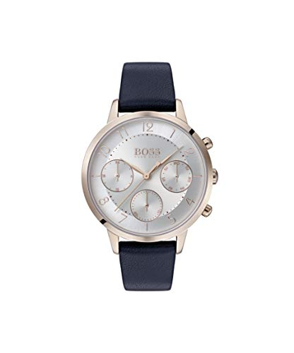 Hugo BOSS Damen Analog Quarz Uhr mit Leder Armband 1502506 - Damen Movado Uhren