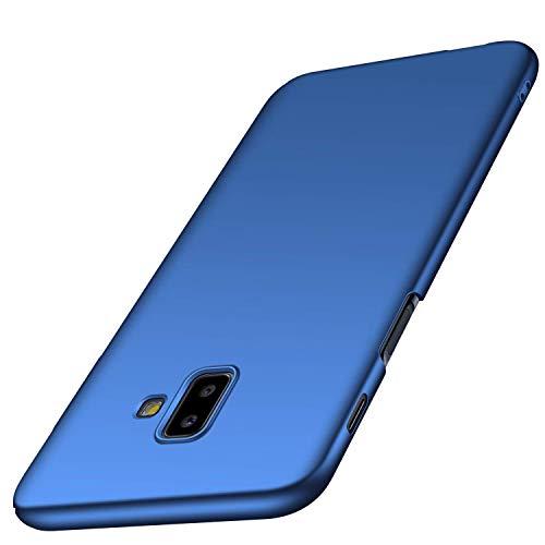 AOBOK Funda Samsung Galaxy J6 Plus, Ultra Slim Duro Fundas Anti-Rasguño Totalmente Protectora Caso Duro Carcasa Case para Samsung Galaxy J6 Plus Smartphone, Azul Oscuro