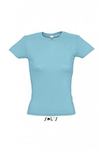 Ladies T-Shirt Miss Dark Grey (Solid)