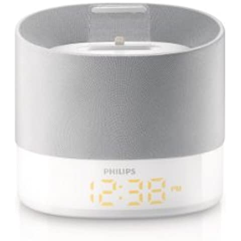 Philips DS1400 - Altavoces con puerto dock (Estereo, para iPhone 5/iPod nano 7/iPod touch 5/USB), Plateado