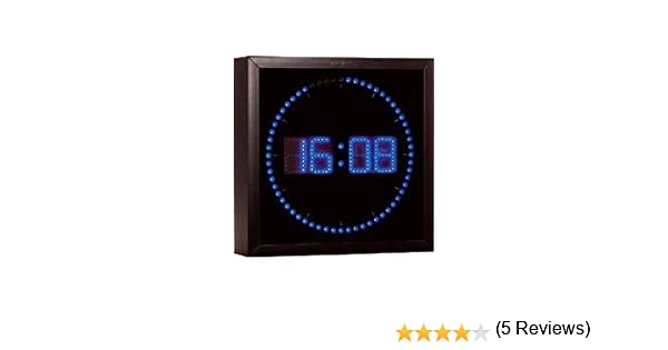24b53fd6b52c32 Lunartec - Horloge digitale murale avec 60 LED - Bleu  Amazon.fr  Montres