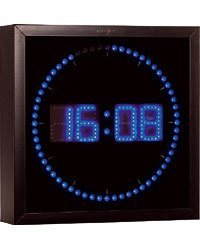 Lunartec - Horloge digitale murale avec 60 LED - Bleu
