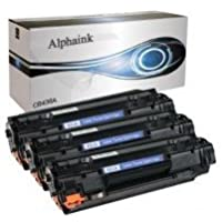 alphaink kit3-ai-436a Kit 3tóner compatible para HP LaserJet CB436A HP LaserJet P1504, p1504N, P1505, P1505N, P1506, p1506N LaserJet M1120, M1120N, M1120MFP, M1522, LaserJet M1522MFP, M1522N, M1522N MFP, M1522nf, P1505, 2000copias