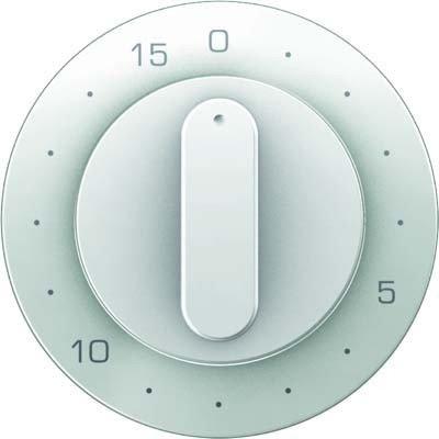 Hager 16322089-Deckel R1/R3Drehschalter mit Timer Mechanismus 15min weiß Polar -