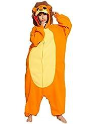 YARBAR Kigurumi Pijamas Unisexo Adulto Traje Disfraz de Halloween Animal Pyjamas León