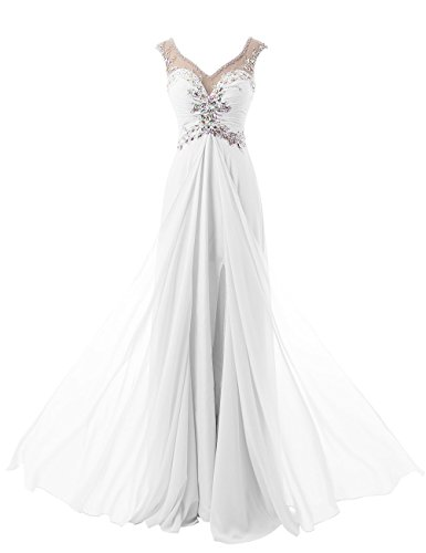 Beyonddress Damen V-Ausschnitt Lang Chiffon Empire Abendkleid Ballkleid Cocktail...