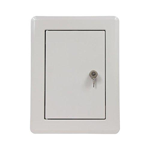 Ampel 24 Trappe pour dévaloir à linge | Porte de conduit | bouton tournant | rectangulaire | thermolaquée blanche | verrouillable