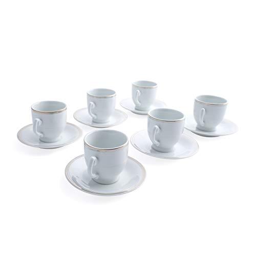 tazzina e piattino da utilizzare per cucina o regalare Royalford caff/è e t/è /& piattino 6pcs bella e vintage