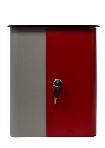 qualarc wf-1515Vista rechteckig Sperren Mailbox grau Körper, Rot Tür und schwarz Top, grau/rot/schwarz -