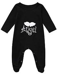 Bebe Mameluco, Tefamore Recién Nacido Bebé Niños Alas de ángel Bodysuit Romper Bordado Pijamas Ropa de…