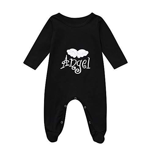 Shopaholic0709 Neugeborene Kleidung, Baby-Junge-Mädchen Langärmelige Buchstaben Stickerei Blume -