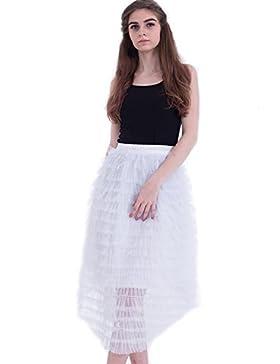 FOLOBE Falda recta de malla de las mujeres de 80cm / 31.5
