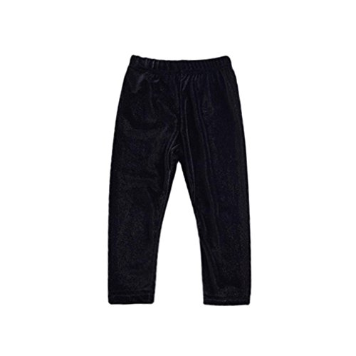 Velours Leggings Hose (Fuibo Baby Kleidung, Neugeborenen Kinder Hosen Baby Mädchen Jungen Feste Warme Velour Leggings Hosen (Schwarz, 80))