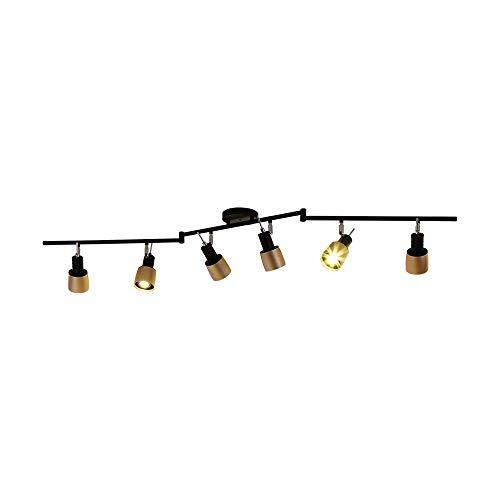 LED Deckenleuchte I 6-flammige Deckenlampe I dreh- & schwenkbarI Deckenstrahler I Deckenspot I Wohnzimmer-Leuchte I Schlafzimmerlampe I Esszimmerlampe I Flurlampe I Chrom I 6 x7 W I Warmweiss Licht I