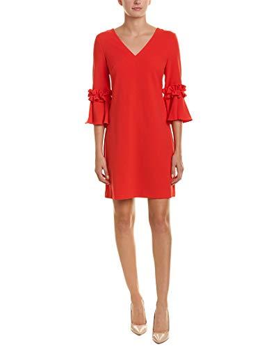Jessica Howard Damen Bell Sleeve V-Neck Shift Dress Legeres Abendkleid, rot, 36 V-neck Shift